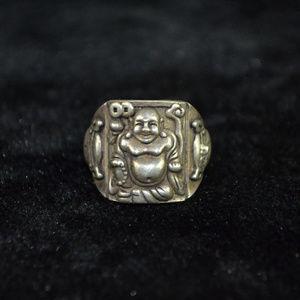 Jewelry - Men Gothic Punk Biker Finger Buddha Ring Sz 11